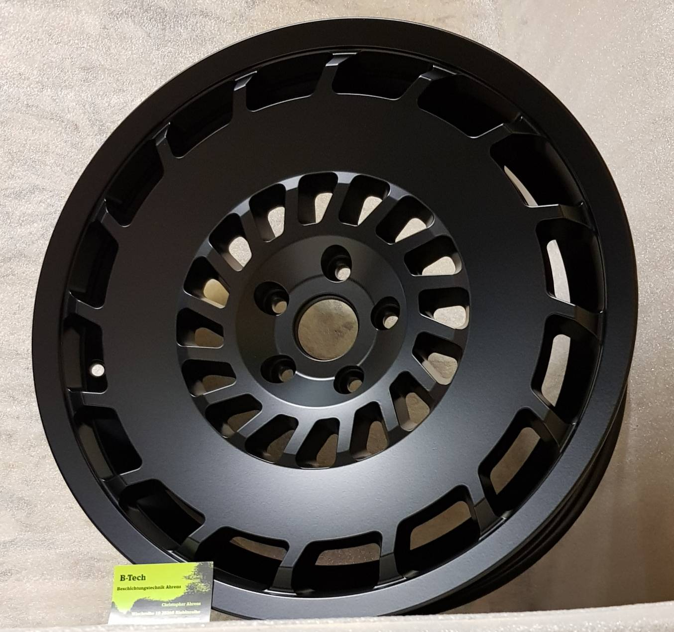 Rotor Felgen in Black Smooth